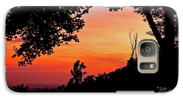 Galaxy Case featuring the photograph Mountain Sunrise by Meta Gatschenberger