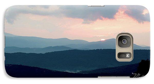 Galaxy Case featuring the photograph Blue Ridge Mountain Sunset by Meta Gatschenberger