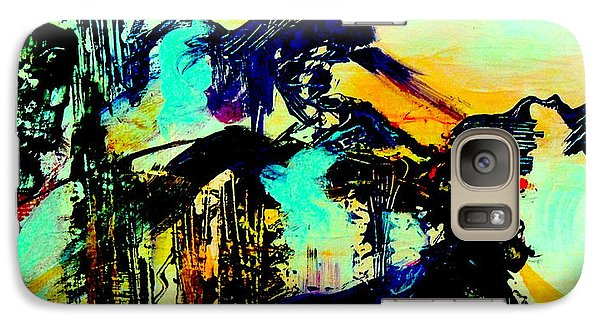 Galaxy Case featuring the digital art Mountain Top Spot by Mary Schiros