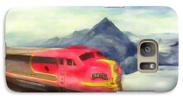 Galaxy Case featuring the painting Mountain Train by Michael Cleere