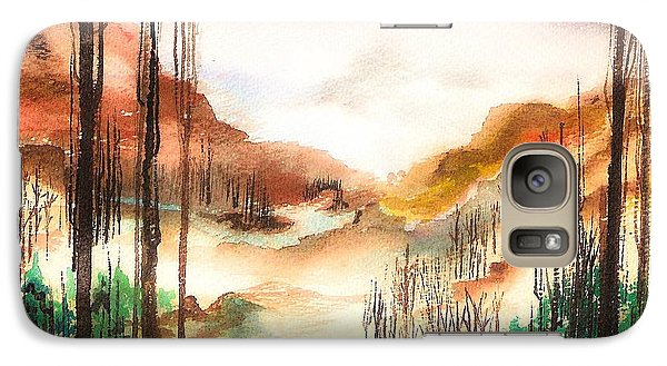 Galaxy Case featuring the painting Mountain Valley by Ellen Canfield