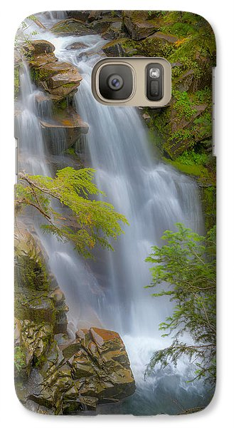 Galaxy Case featuring the photograph Mountain Waterfall 5613 by Chris McKenna