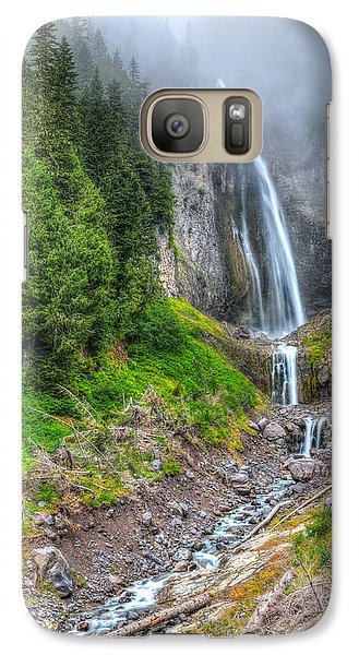 Galaxy Case featuring the photograph Mountain Waterfalls 5808 by Chris McKenna