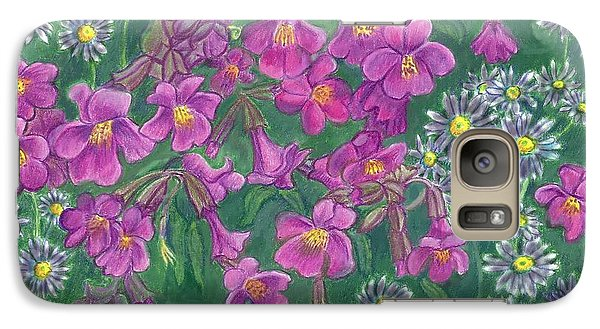 Galaxy Case featuring the drawing Mountain Wild Flowers by Dawn Senior-Trask