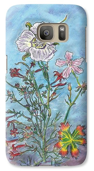 Galaxy Case featuring the painting Mountain Wildflowers II by Dawn Senior-Trask