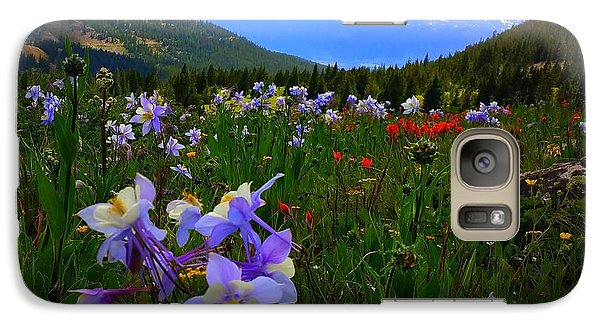 Galaxy Case featuring the photograph Mountain Wildflowers by Karen Shackles