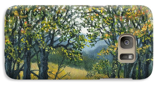 Galaxy Case featuring the painting Mountain Woods by Kathleen McDermott