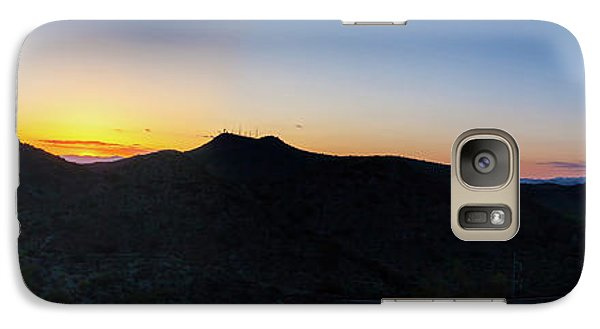 Galaxy Case featuring the photograph Mountains At Sunset by Ed Cilley