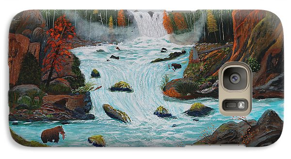 Galaxy Case featuring the painting Mountains High by Myrna Walsh