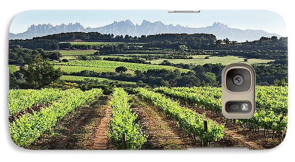 Galaxy Case featuring the mixed media Mountains Of Montserrat Catalunya by Gina Dsgn
