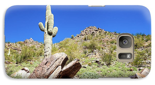 Galaxy Case featuring the photograph Mountainside Cactus 2 by Ed Cilley