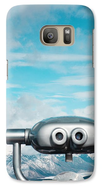 Mountaintop View Galaxy Case by Kim Fearheiley