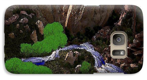 Galaxy Case featuring the digital art Mountine River by Dr Loifer Vladimir