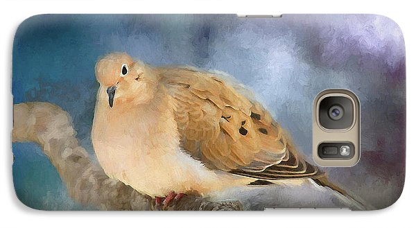 Galaxy Case featuring the photograph Mourning Dove Of Winter by Darren Fisher