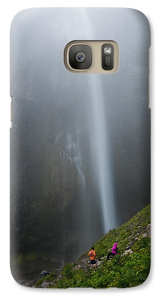 Galaxy Case featuring the photograph Moutain Waterfalls 5817 by Chris McKenna