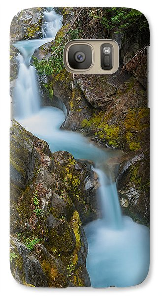 Galaxy Case featuring the photograph Moutain Waterfalls 5857 by Chris McKenna