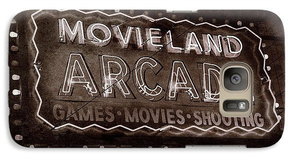 Galaxy Case featuring the photograph Movieland Arcade - Gritty by Stephen Stookey