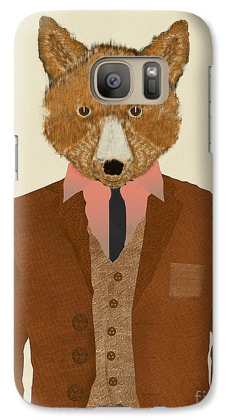 Galaxy Case featuring the painting Mr Fox by Bri B