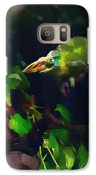 Galaxy Case featuring the photograph Mr. H.c. Chameleon Esquire by Sharon Jones
