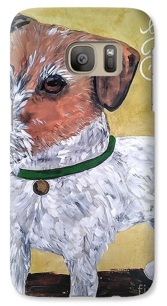 Galaxy Case featuring the painting Mr. R. Terrier by Reina Resto