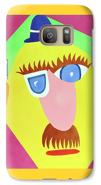 Galaxy Case featuring the painting Mr. Strangefellow by Thomas Blood