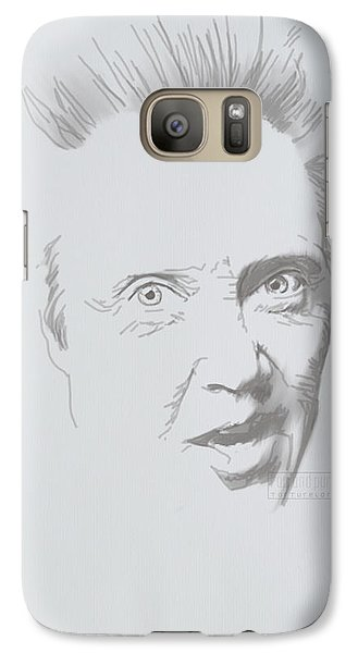 Galaxy Case featuring the mixed media Mr. Walken by TortureLord Art