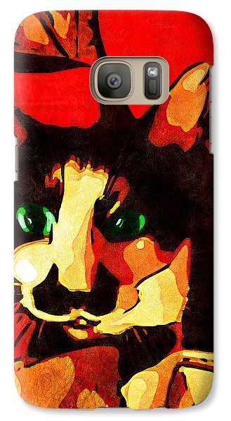 Galaxy Case featuring the photograph Mr. Wiggins by Iowan Stone-Flowers