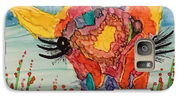 Galaxy Case featuring the painting Mrs Giraffe by Suzanne Canner