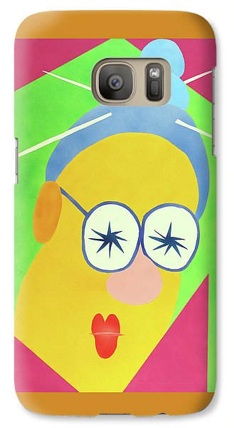 Galaxy Case featuring the painting Mrs. Strangefellow by Thomas Blood