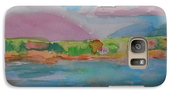 Galaxy Case featuring the painting Mt Desert From Marlboro Beach by Francine Frank