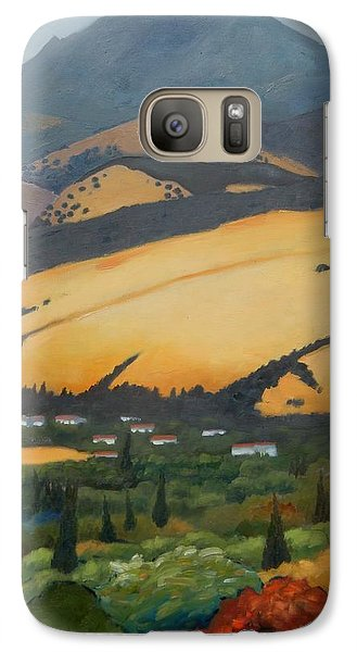 Galaxy Case featuring the painting Mt. Diablo Above by Gary Coleman