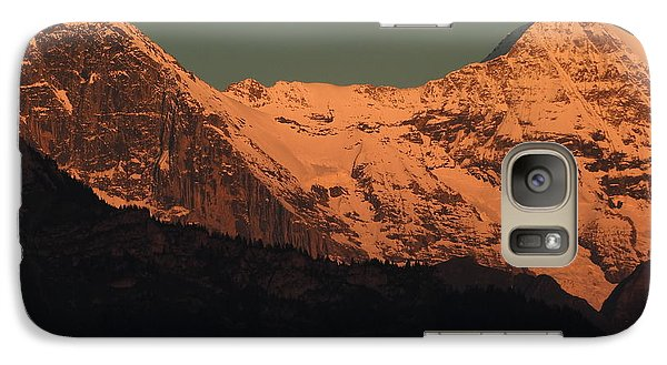 Mt. Eiger And Mt. Moench At Sunset Galaxy S7 Case