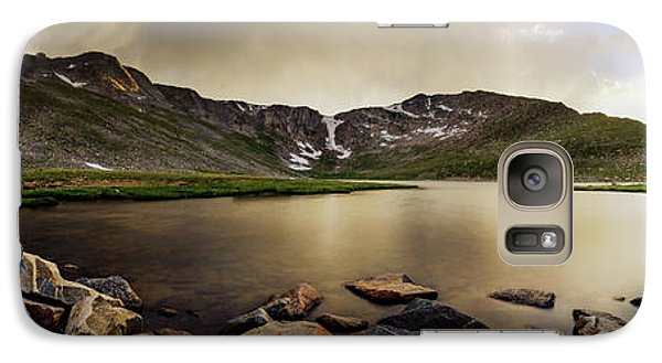 Galaxy Case featuring the photograph Mt. Evans Summit Lake by Chris Bordeleau