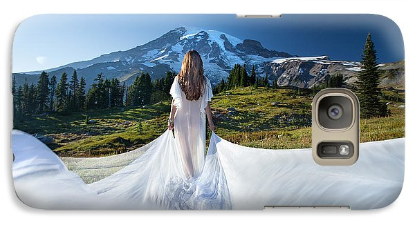 Galaxy Case featuring the photograph Mt Goddess by Dario Infini