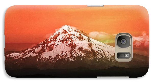 Galaxy Case featuring the photograph Mt Hood Oregon Sunset by Aaron Berg