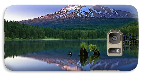 Galaxy Case featuring the photograph Mt. Hood Reflection At Sunset by William Lee