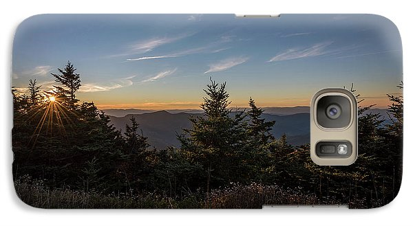 Galaxy Case featuring the photograph Mt Mitchell Sunset North Carolina 2016 by Terry DeLuco