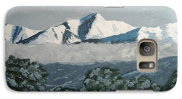 Galaxy Case featuring the painting Mt Princeton Co by Norm Starks