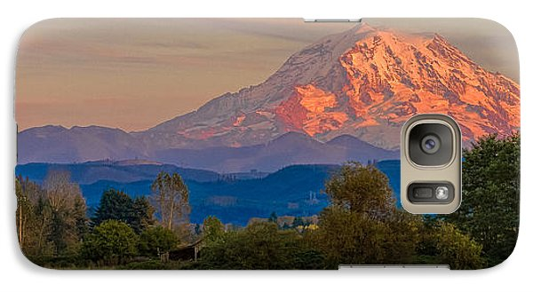 Galaxy Case featuring the photograph Mt Rainier In The Fall by Ken Stanback