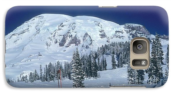 Galaxy Case featuring the photograph Mt. Rainier by Larry Keahey