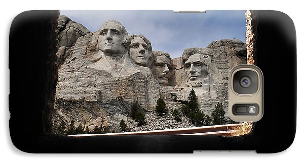 Galaxy Case featuring the photograph Mt Rushmore Tunnel by David Lawson