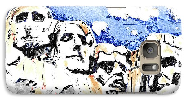 Galaxy Case featuring the painting Mt. Rushmore, Usa by Terry Banderas