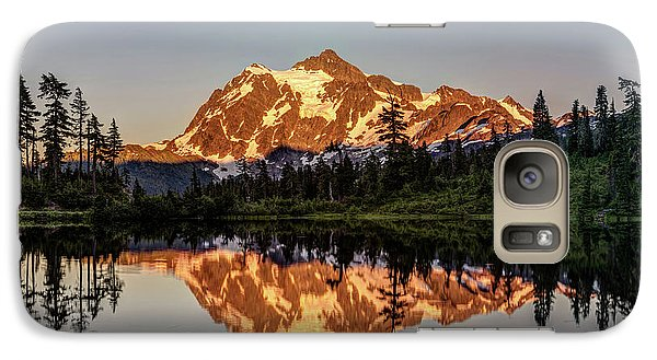 Galaxy Case featuring the photograph Mt Shuksan Reflection by Pierre Leclerc Photography
