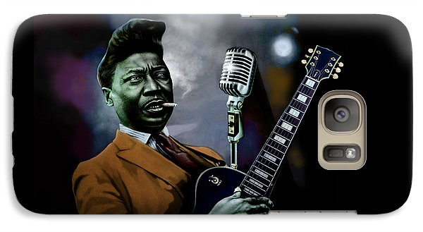 Galaxy Case featuring the mixed media Muddy Waters - Mick Jagger's Grandfather by Dan Haraga