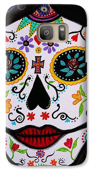Galaxy Case featuring the painting Muertos by Pristine Cartera Turkus