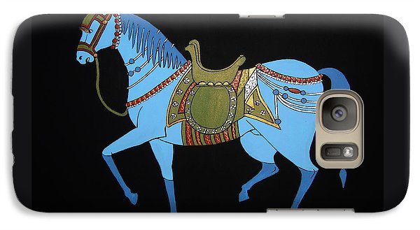 Galaxy Case featuring the painting Mughal Horse by Stephanie Moore