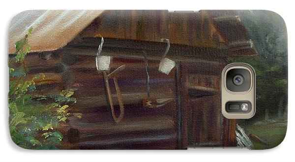 Galaxy Case featuring the painting Mulberry Farms Grainery by Donna Tuten