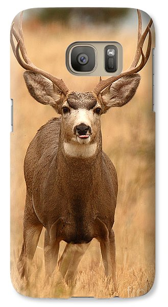 Galaxy Case featuring the photograph Mule Deer Buck Showing His Thoughts by Max Allen