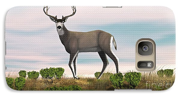 Galaxy Case featuring the digital art Mule Deer Buck by Walter Colvin