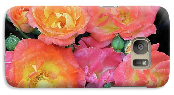 Galaxy Case featuring the photograph Multi-color Roses by Jerry Battle